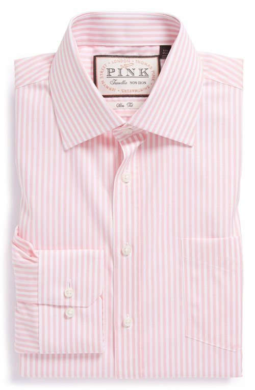 Slim Fit Stripe Dress Shirt by Thomas Pink in That Awkward Moment