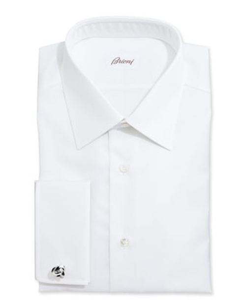 White-On-White Stripe Dress Shirt by Brioni in Ricki and the Flash