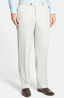 Flat Front Wool Gabardine Trousers by Berle in Ballers