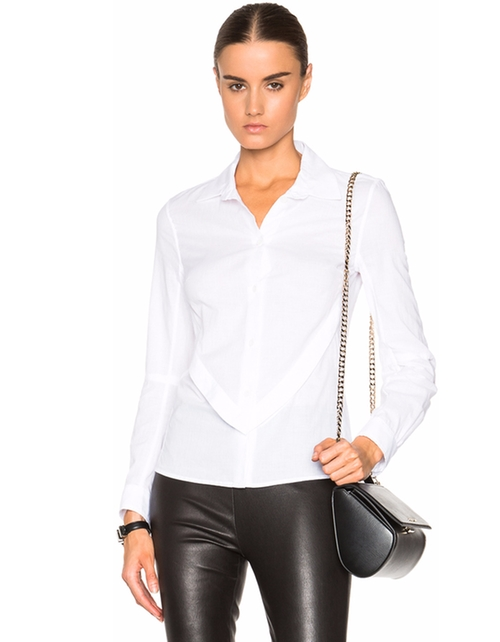 Cotton Button Down Shirt by Ann Demeulemeester in The Boss