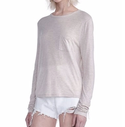 Classic Cropped Long Sleeve Tee by Alexander Wang in Animal Kingdom
