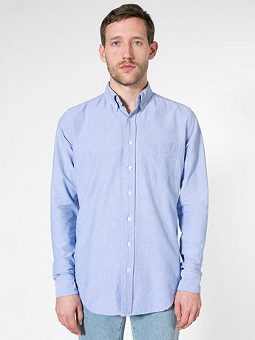 Long Sleeve Oxford Shirt by American Apparel in The Loft
