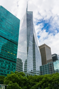 New York City, New York by Bank of America Tower in Sully