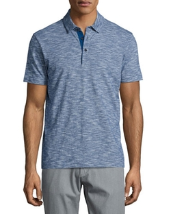 Rapino Slub Short-Sleeve Polo Shirt by Boss Hugo Boss in The Flash