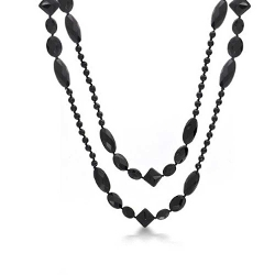Faceted Simulated Onyx Beads Necklace by Bling Jewelry in The Second Best Exotic Marigold Hotel