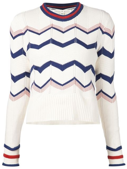 Chevron Sweater by Veronica Beard in How To Get Away With Murder - Season 2 Episode 3