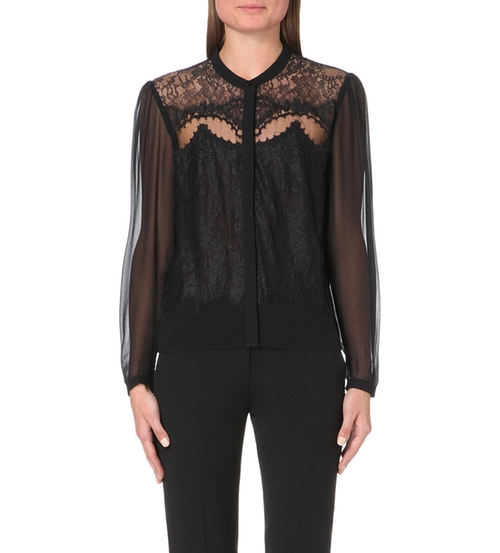 Lace And Chiffon Shirt by The Kooples in Nashville - Season 4 Episode 7