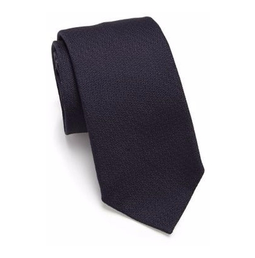 Solid Silk Tie by Salvatore Ferragamo in Designated Survivor - Season 1 Episode 7